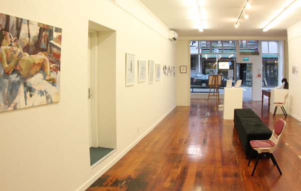 Image of the downstairs Gallery space