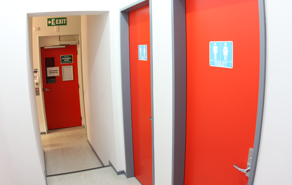 Toilets and Lift