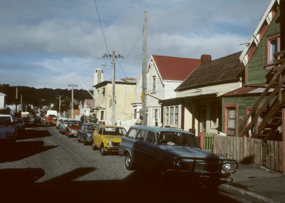 Photo of Arthur St, looking East, 1986