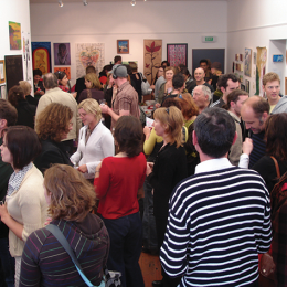 Opening night of the 2007 Art Sale.