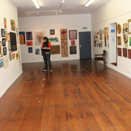 Preview session of the 2007 Art Sale in the downstairs gallery space.