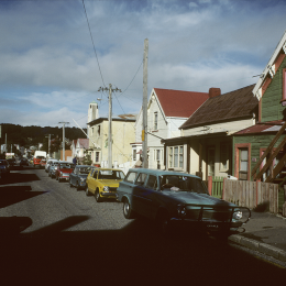 Arthur Street looking east, 1986.