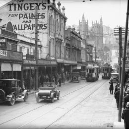 Campbell's store on Manners Street looking west, c. 1928