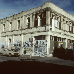 Thistle Hall in a derelict state, 1986.