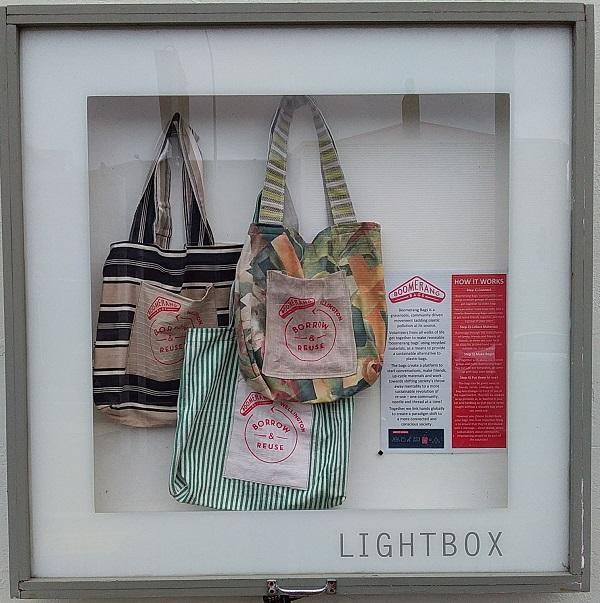 boomerang bags display in lightbox