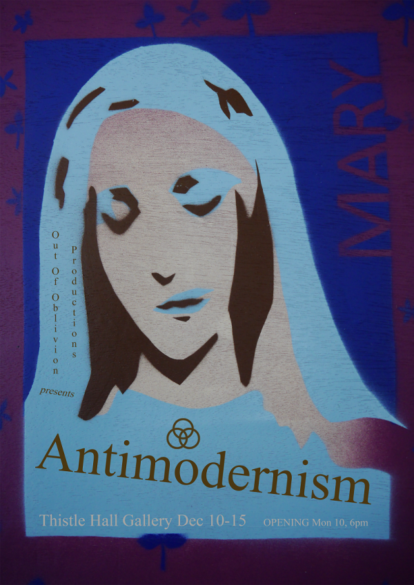 poster of Mary for antimodernism exhibition