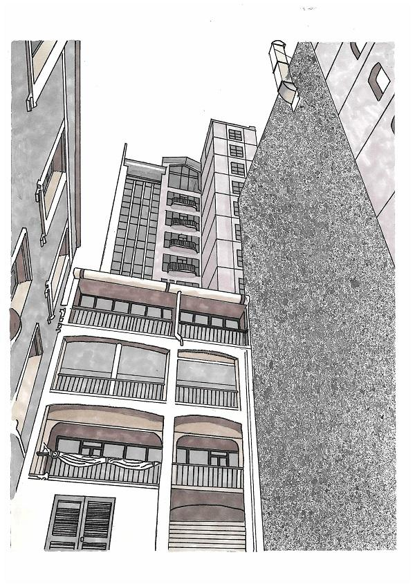 ILLUSTRATION OF BUILDINGS TOM LAWLER