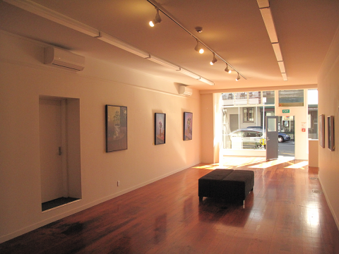 Downstairs gallery space