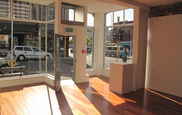 Gallery Space looking out onto Cuba Street